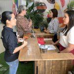 DeMuchas personas mostraron interés por conocer más sobre el productogustacion-01-Rueda-Negocios-2019-Lacteos-Quesos-Don-Joaquin